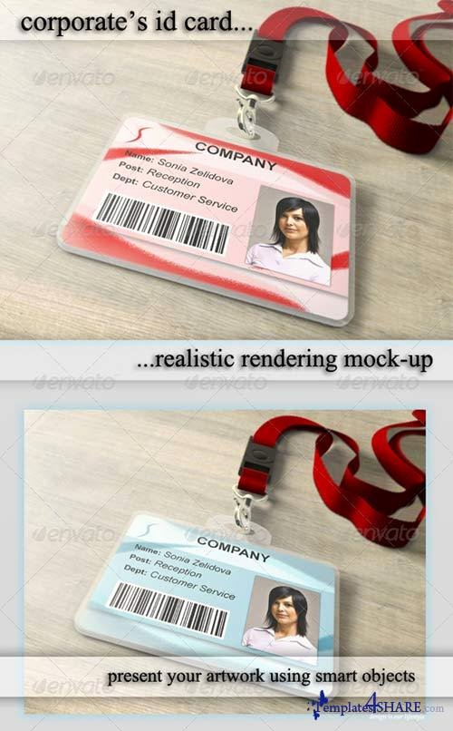 Id Badge Template Photoshop Luxury Graphicriver Id Card Holder Mockup Templates4share