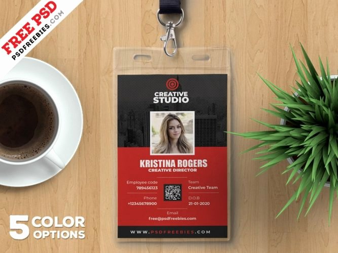 Id Badge Template Photoshop New Download Free Card & Invites Psd Download Psd