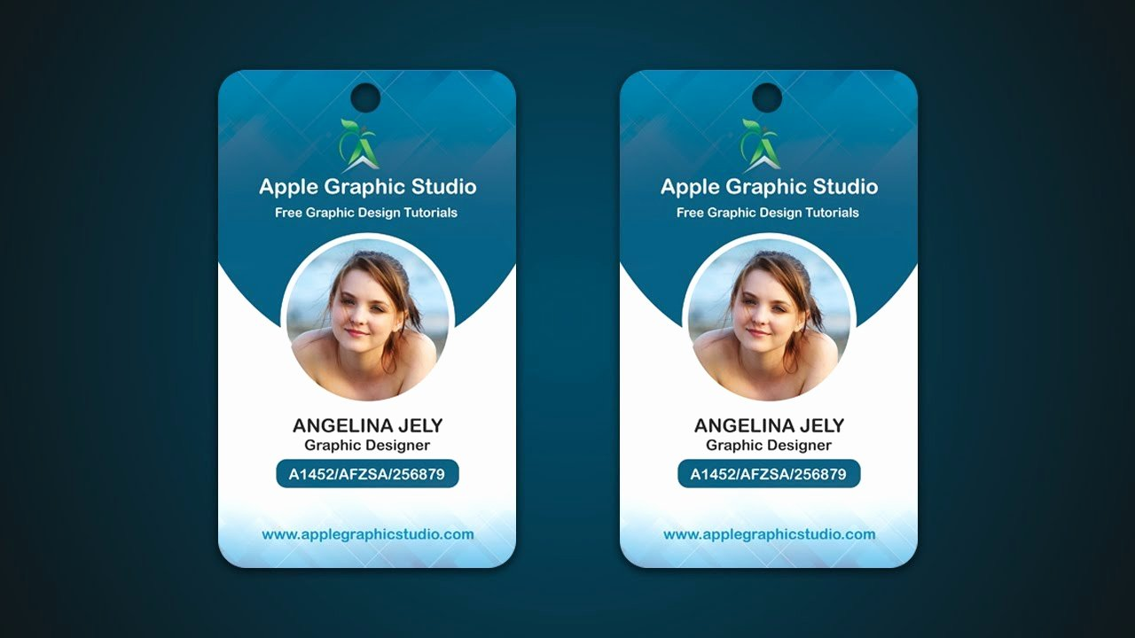 Id Badge Template Photoshop Unique Pany Id Card Design Tutorial Shop Cc 2017