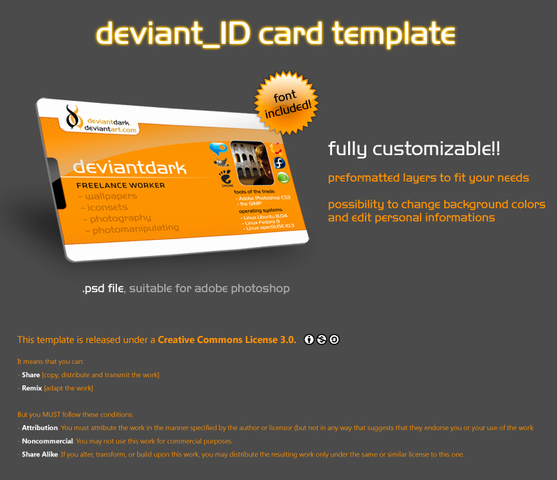 Id Card Template Photoshop Awesome Id Card Template