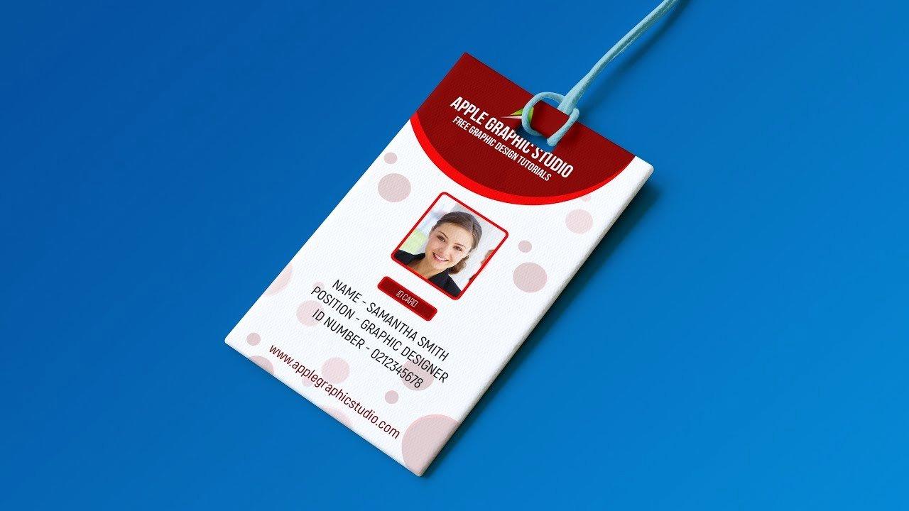Id Card Template Photoshop Beautiful Create Professional Id Card Template Shop Tutorial