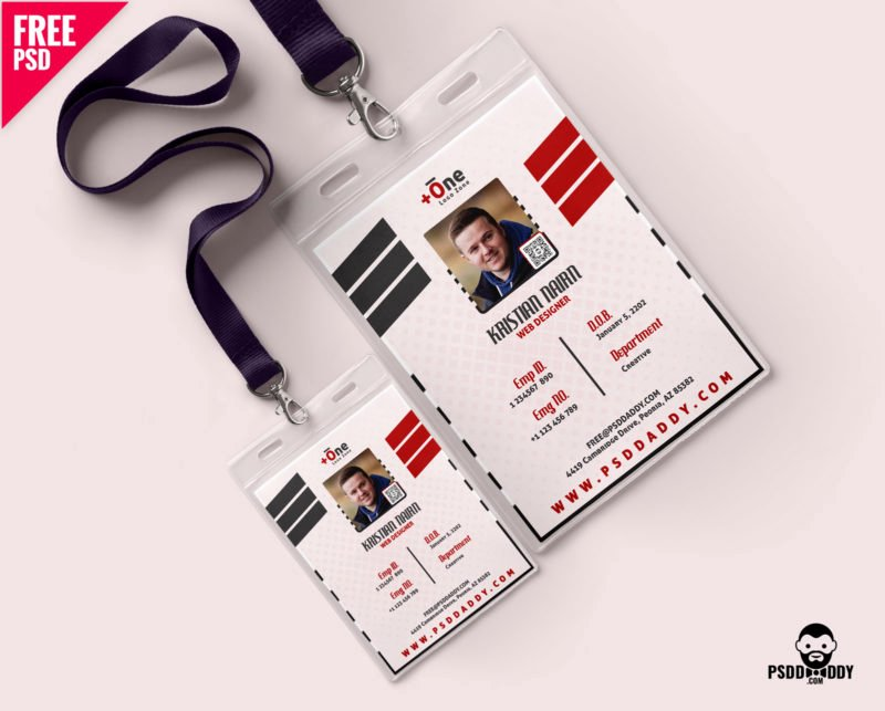 Id Card Template Photoshop Beautiful [download] Fice Identity Card Free Psd