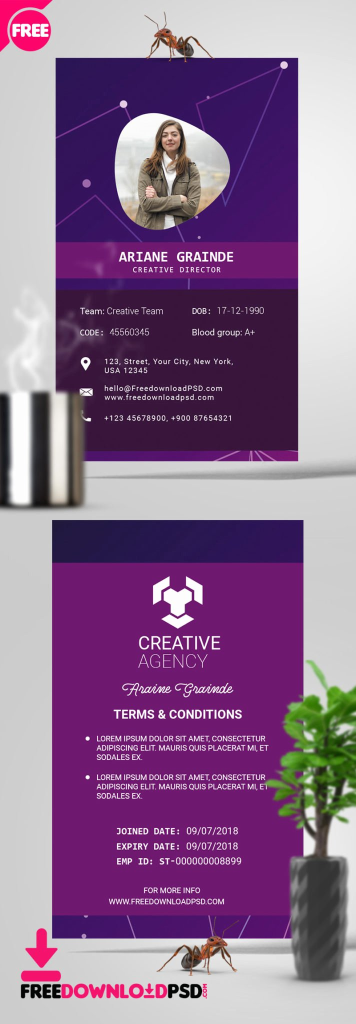 Id Card Template Photoshop Best Of [free] Id Card Psd Template