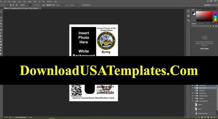 Id Card Template Photoshop Elegant Us Military Id Card Template [fake Editable File]