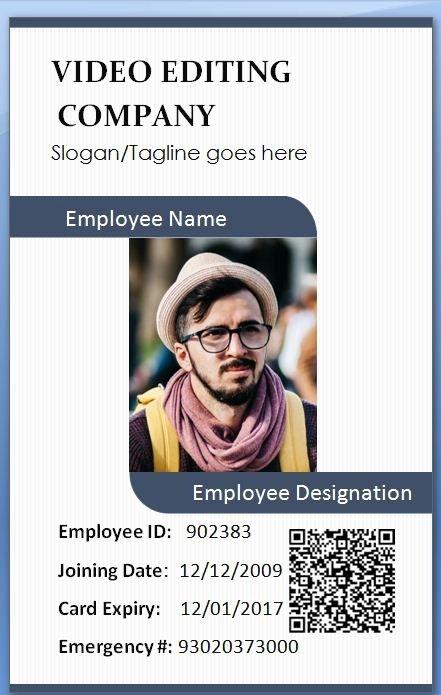 Id Card Template Photoshop Fresh Handlerbar Employee Card Template
