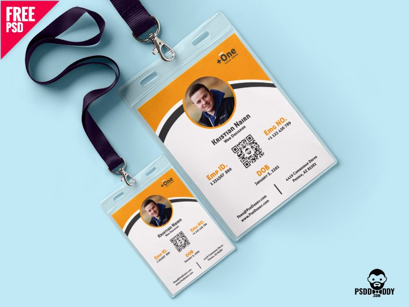 Id Card Template Photoshop Fresh Multipurpose Identity Card Template Psd by Mohammed
