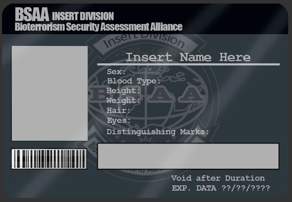 Id Card Template Photoshop Lovely Bsaa Id Card Template by Mangapip On Deviantart