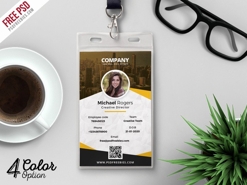 Id Card Template Photoshop Lovely Corporate Identity Card Design Template Psd Download Psd