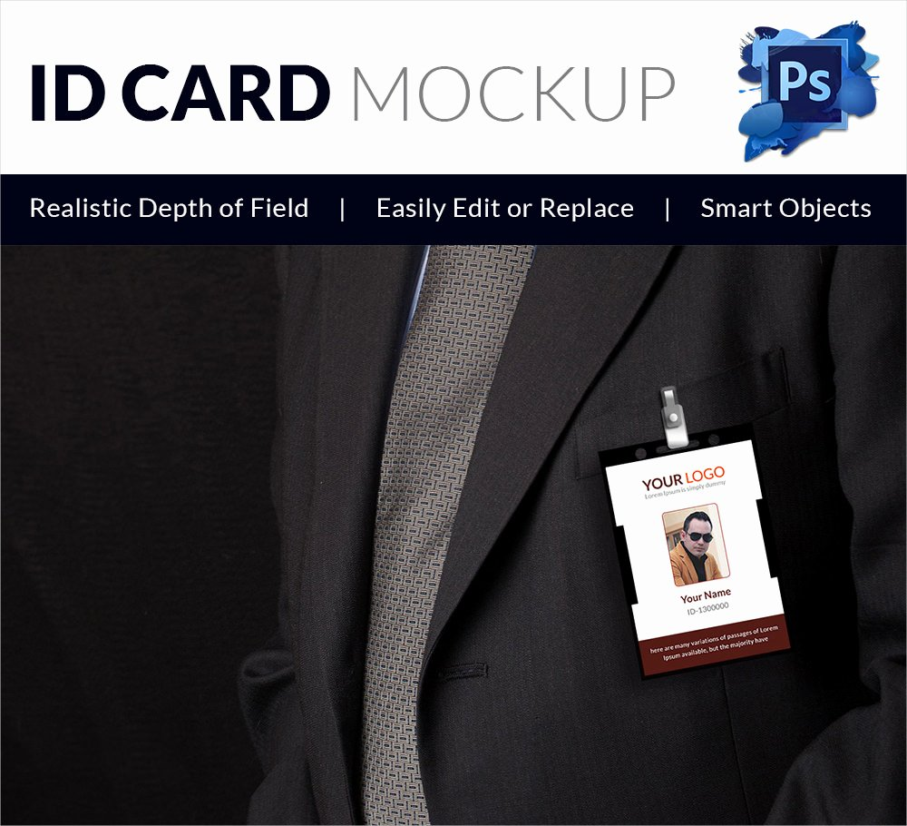 Id Card Template Photoshop New 30 Blank Id Card Templates Free Word Psd Eps formats