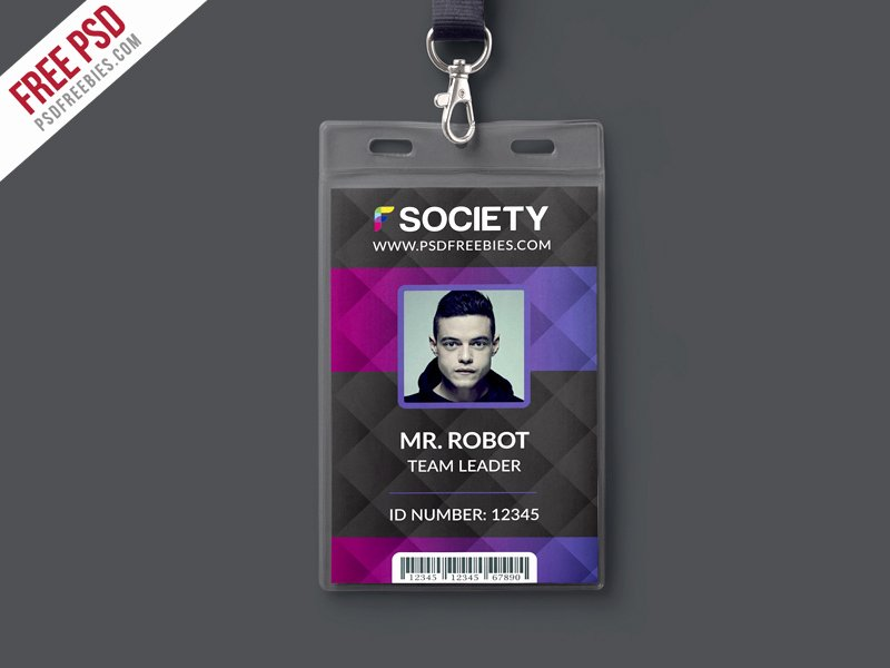 Id Card Template Photoshop Unique Corporate Fice Id Card Psd Template Download Psd