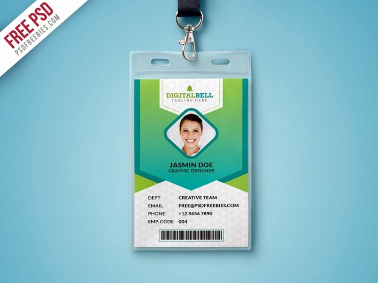 Id Card Template Photoshop Unique Multipurpose Identity Card Template Psd Download