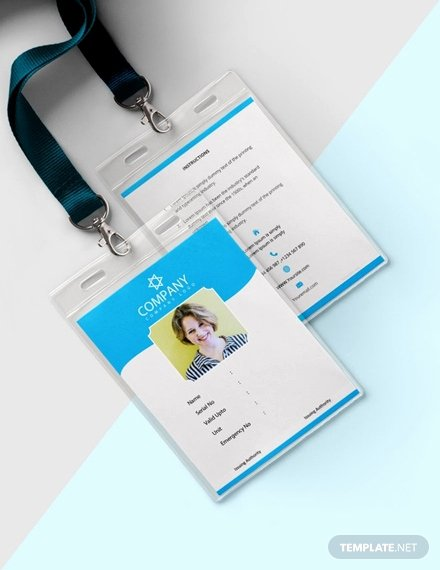 Id Card Templates Photoshop Elegant 35 Free Id Card Templates