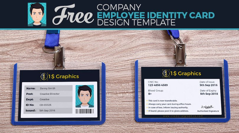 Id Card Templates Photoshop New Employee Id Card Shop Template Free Download