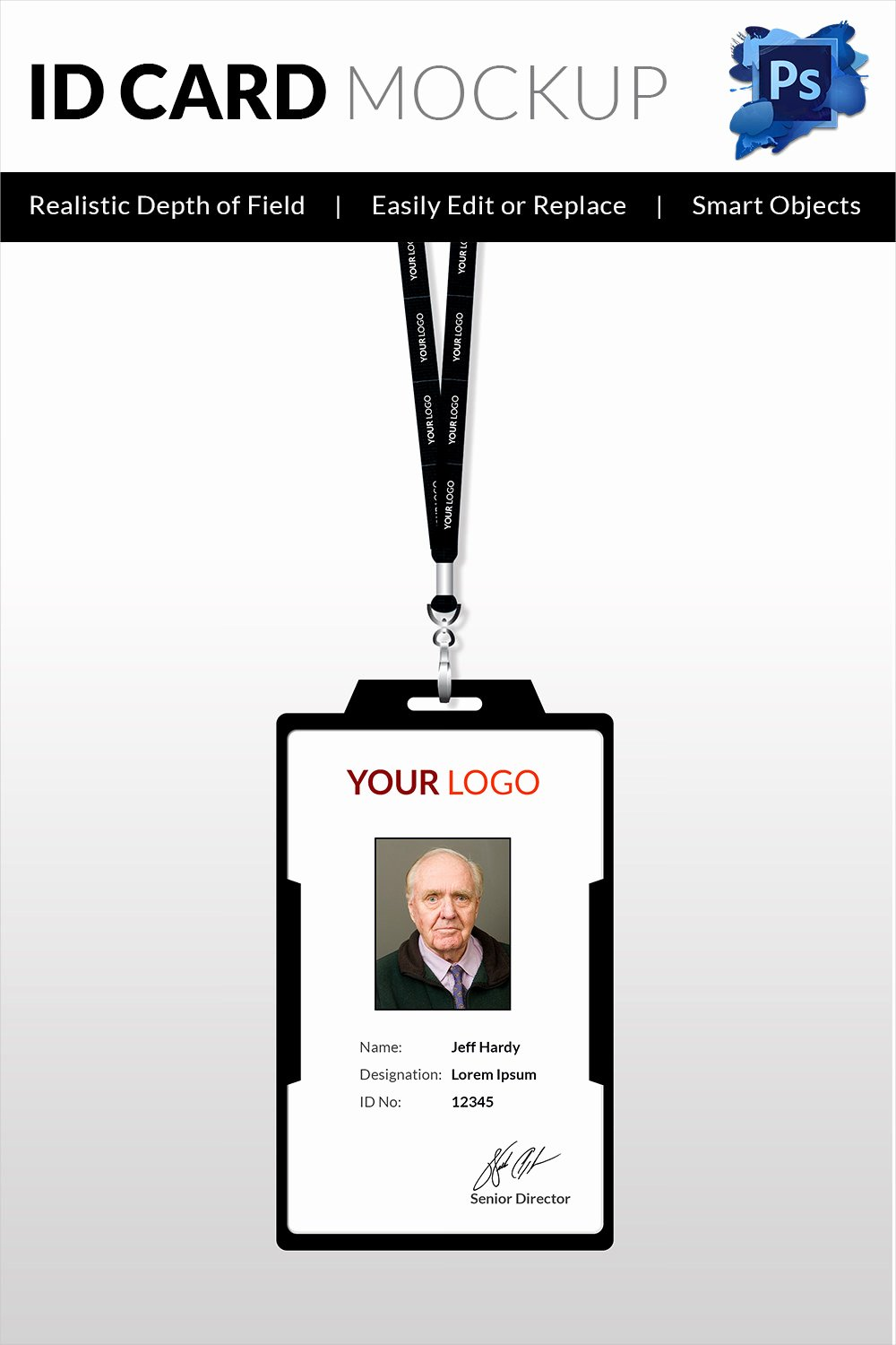 Id Card Templates Photoshop Unique 30 Blank Id Card Templates Free Word Psd Eps formats