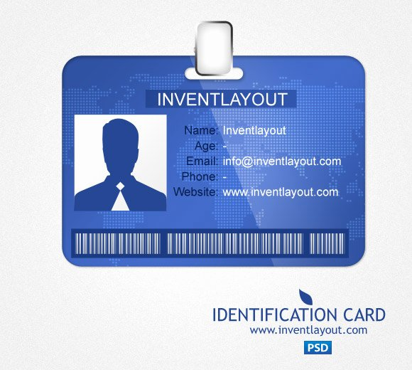 Id Card Templates Photoshop Unique Download Identification Card Psd