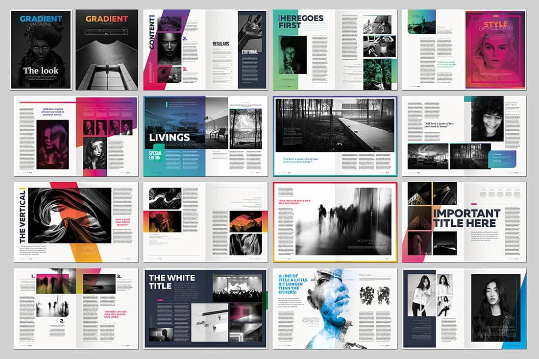In Design Calendar Templates Elegant 15 Indesign Magazine & Brochure Templates Daily Ui