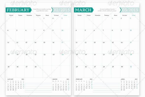 In Design Calendar Templates Luxury 20 Beautiful Indesign Calendar Templates – Design Freebies