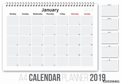 In Design Calendar Templates New 2019 Calendar Layout Buy This Stock Template and Explore