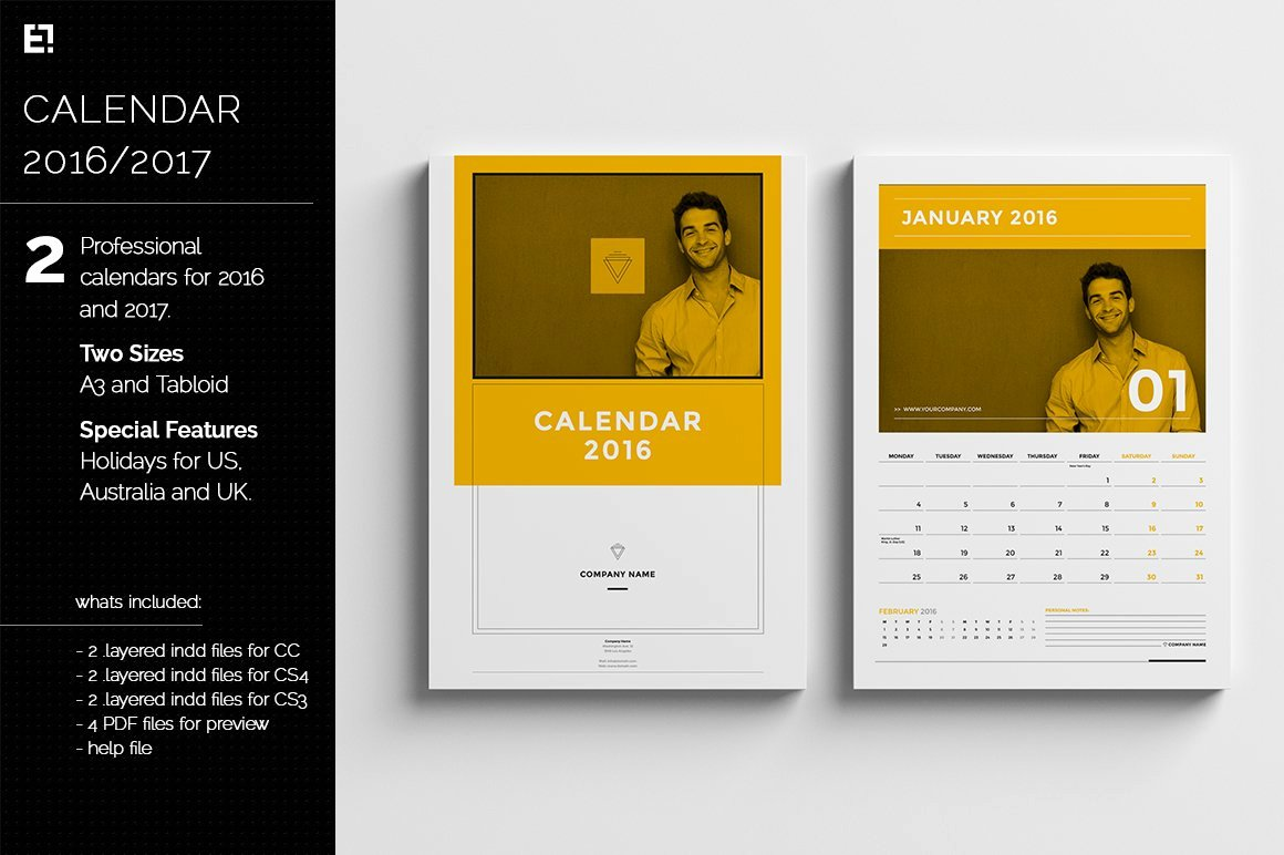 In Design Calendar Templates New Calendar Templates for 2016 2017 Templates Creative