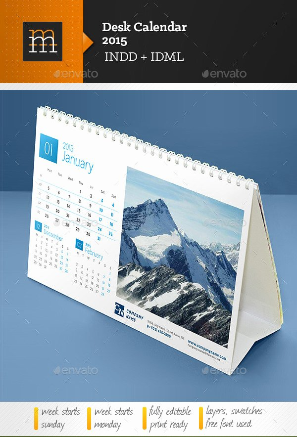 In Design Calendar Templates New Desk Calendar Template – 30 Free Psd Ai Indesign Eps