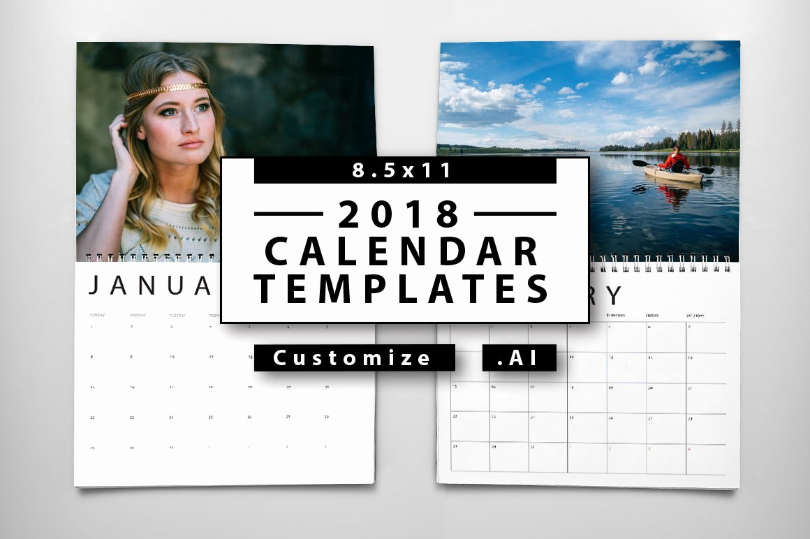 In Design Calendar Templates Unique 2018 Calendar Templates Templates Creative Market