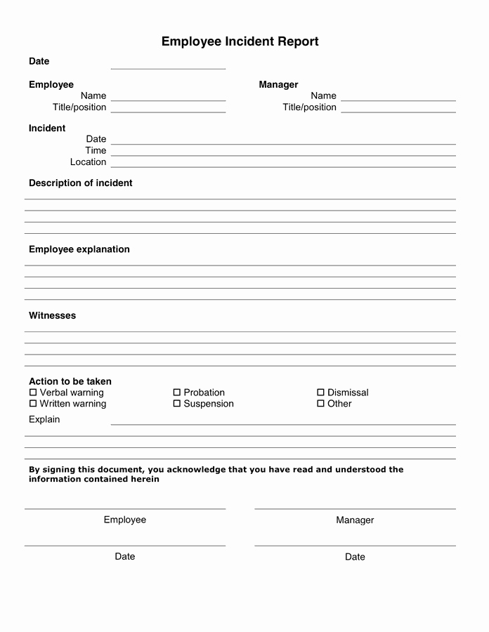 Incident Report Template Microsoft Best Of 10 Incident Report Templates Word Excel Pdf formats