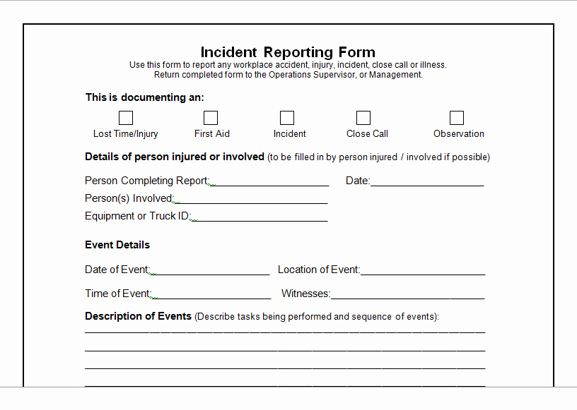 Incident Report Template Microsoft Elegant Weekly Project Status Report Template Excel Tmp