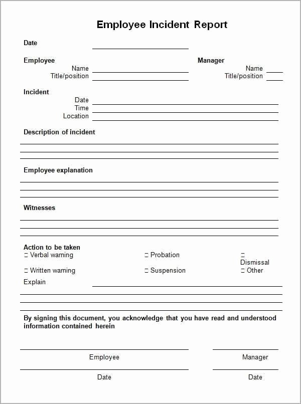 Incident Report Template Microsoft Fresh Incident Report Template