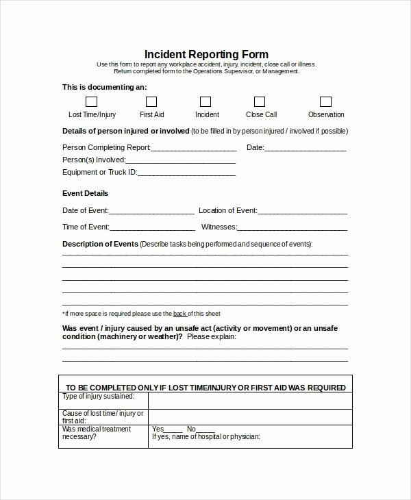 Incident Report Template Microsoft Inspirational Word Report Template 8 Free Word Document Downloads
