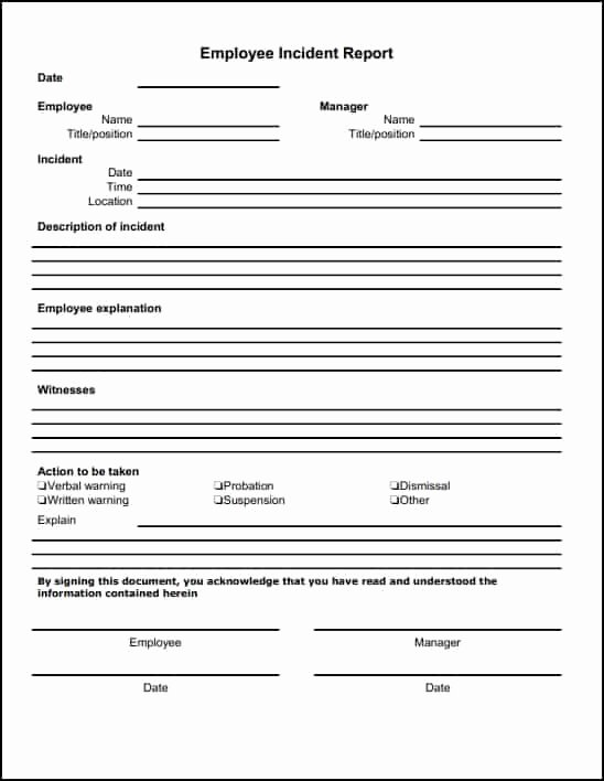 Incident Report Template Microsoft Lovely 13 Incident Report Templates Excel Pdf formats