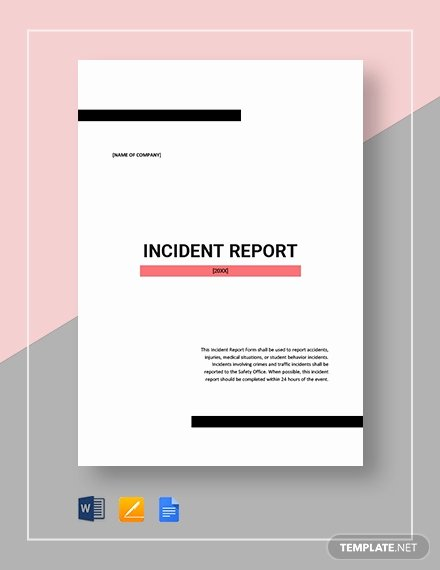 Incident Report Template Microsoft Lovely 37 Incident Report Templates Pdf Doc Pages
