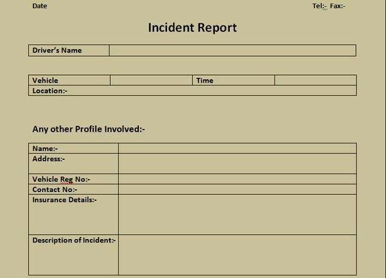 Incident Report Template Microsoft Luxury Get Incident Report form Excel Template