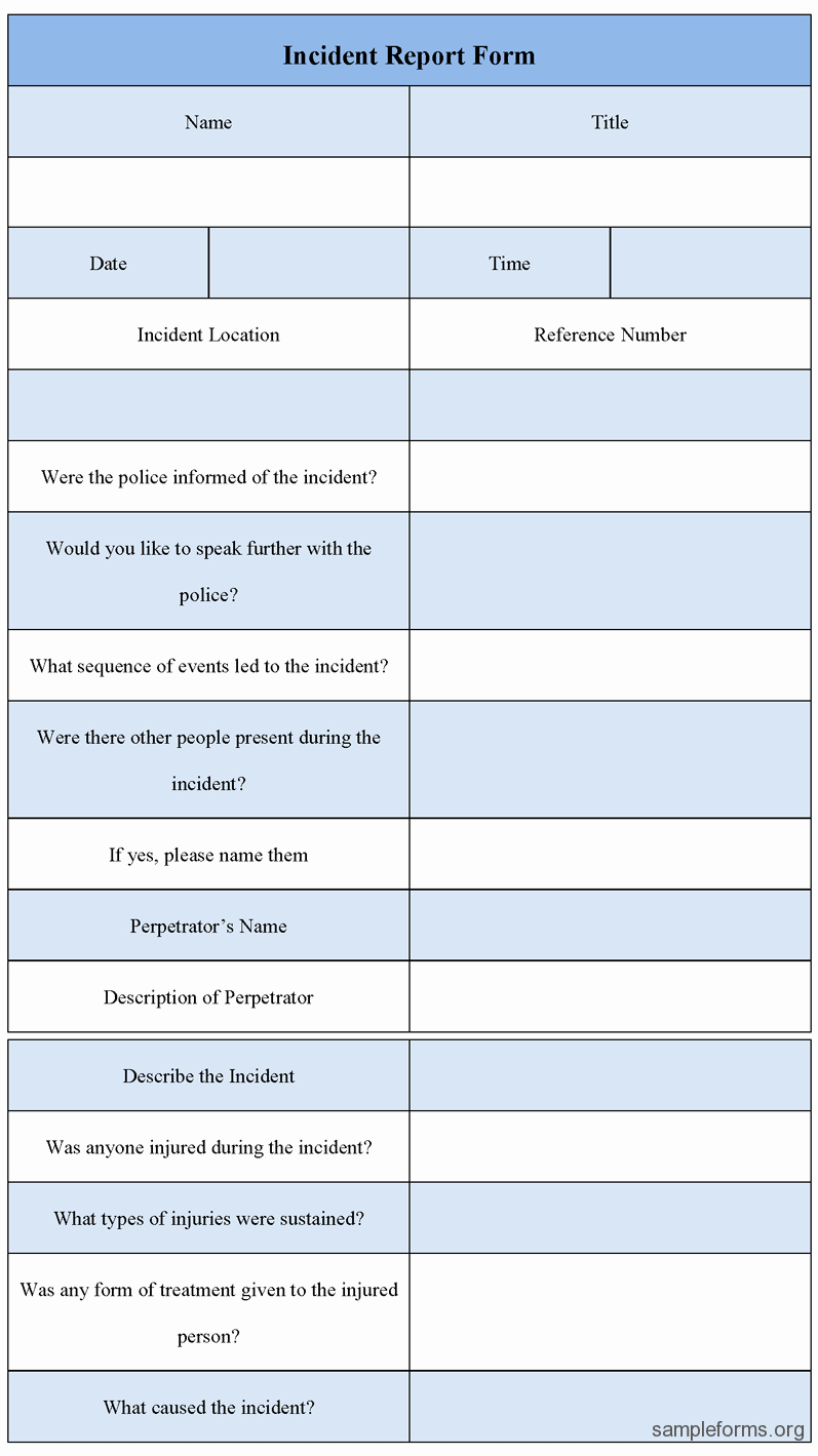 Incident Report Template Microsoft Luxury Incident Report Template