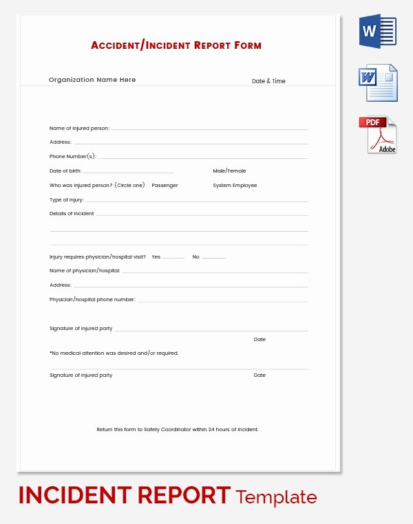 Incident Report Template Word Best Of Incident Report Template 39 Free Word Pdf format