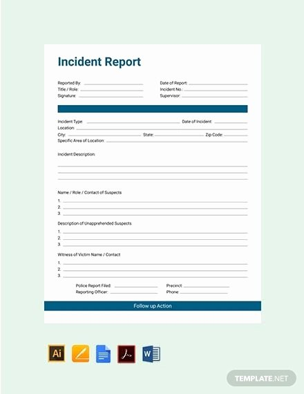 Incident Report Template Word Inspirational Free 42 Incident Report Examples & Samples In Pdf