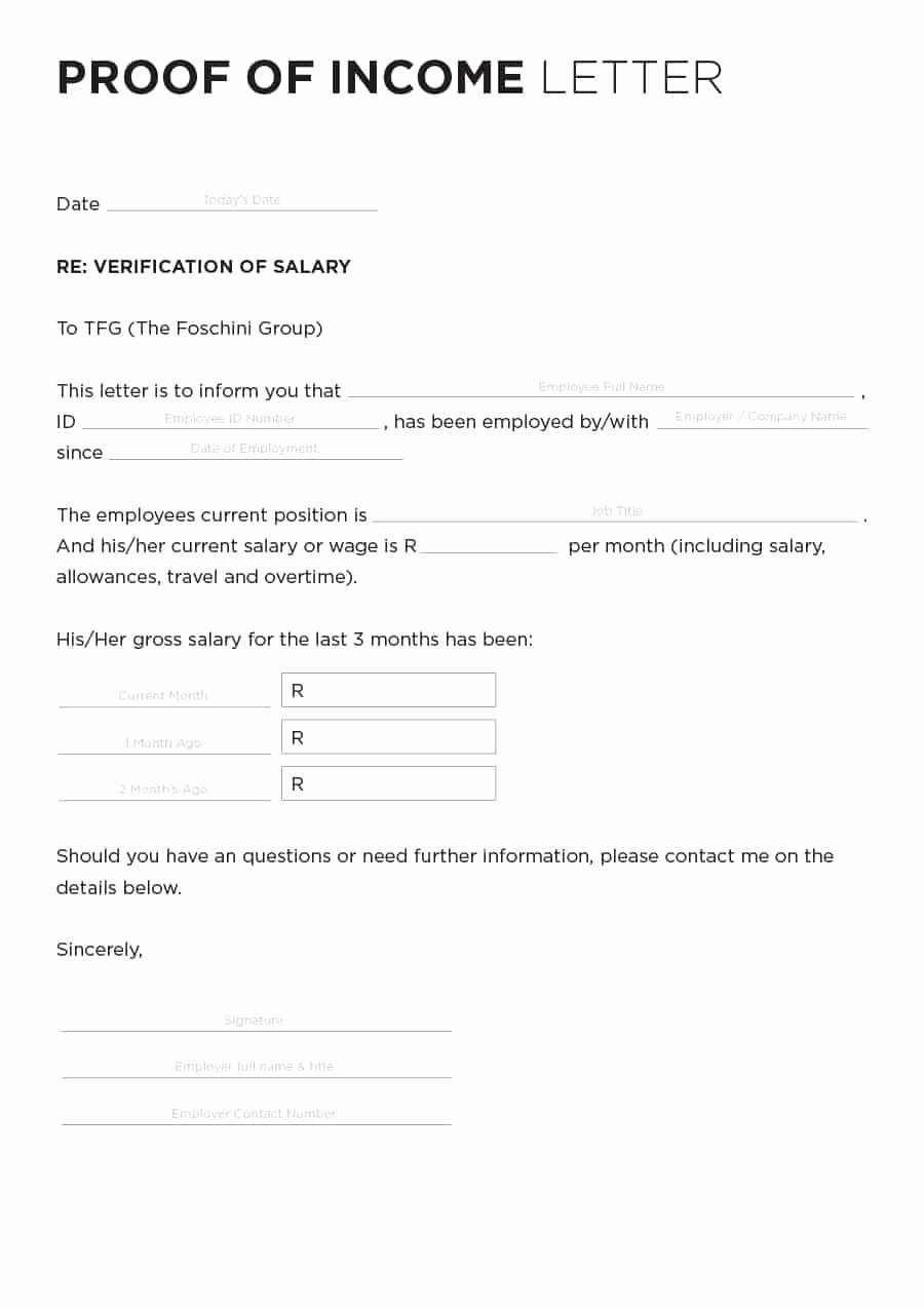 Income Verification Letter Template Awesome 40 In E Verification Letter Samples & Proof Of In E
