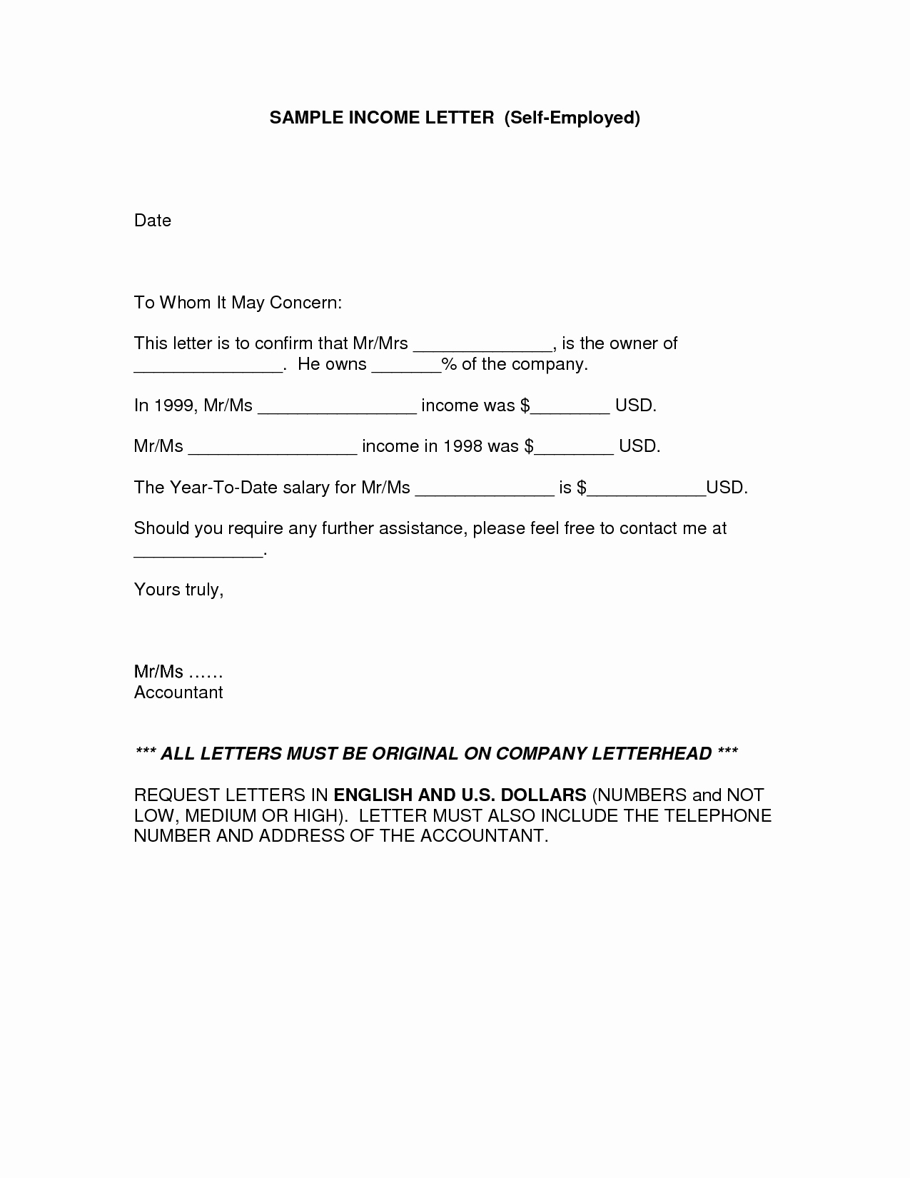Income Verification Letter Template Awesome In E Verification Letter for Self Employed