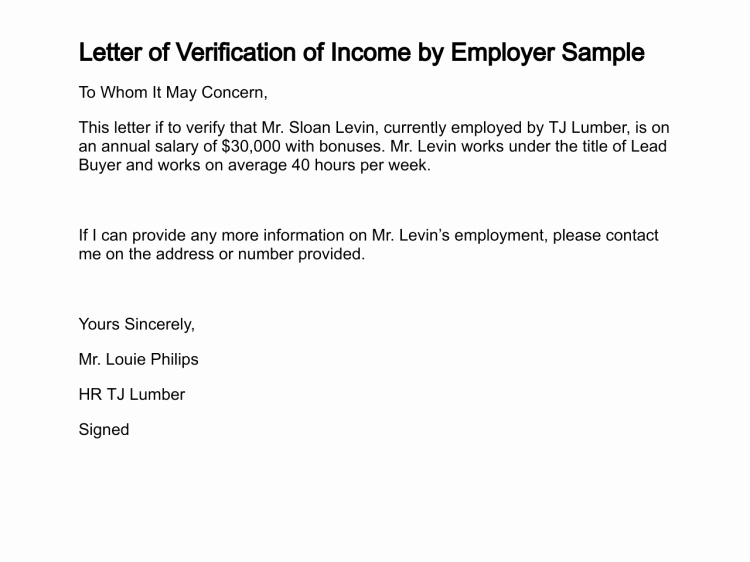 Income Verification Letter Template Best Of Letter Of Verification