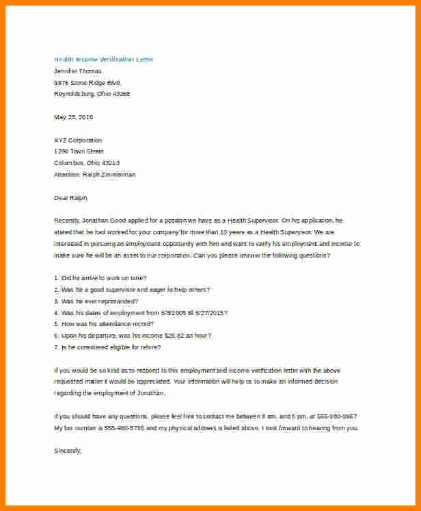 Income Verification Letter Template New 7 Salary Verification Letter From Employer
