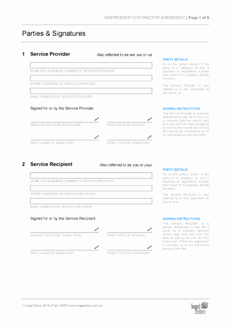 Independent Contractor Agreement Template Free Awesome Independent Contractor Agreement Template