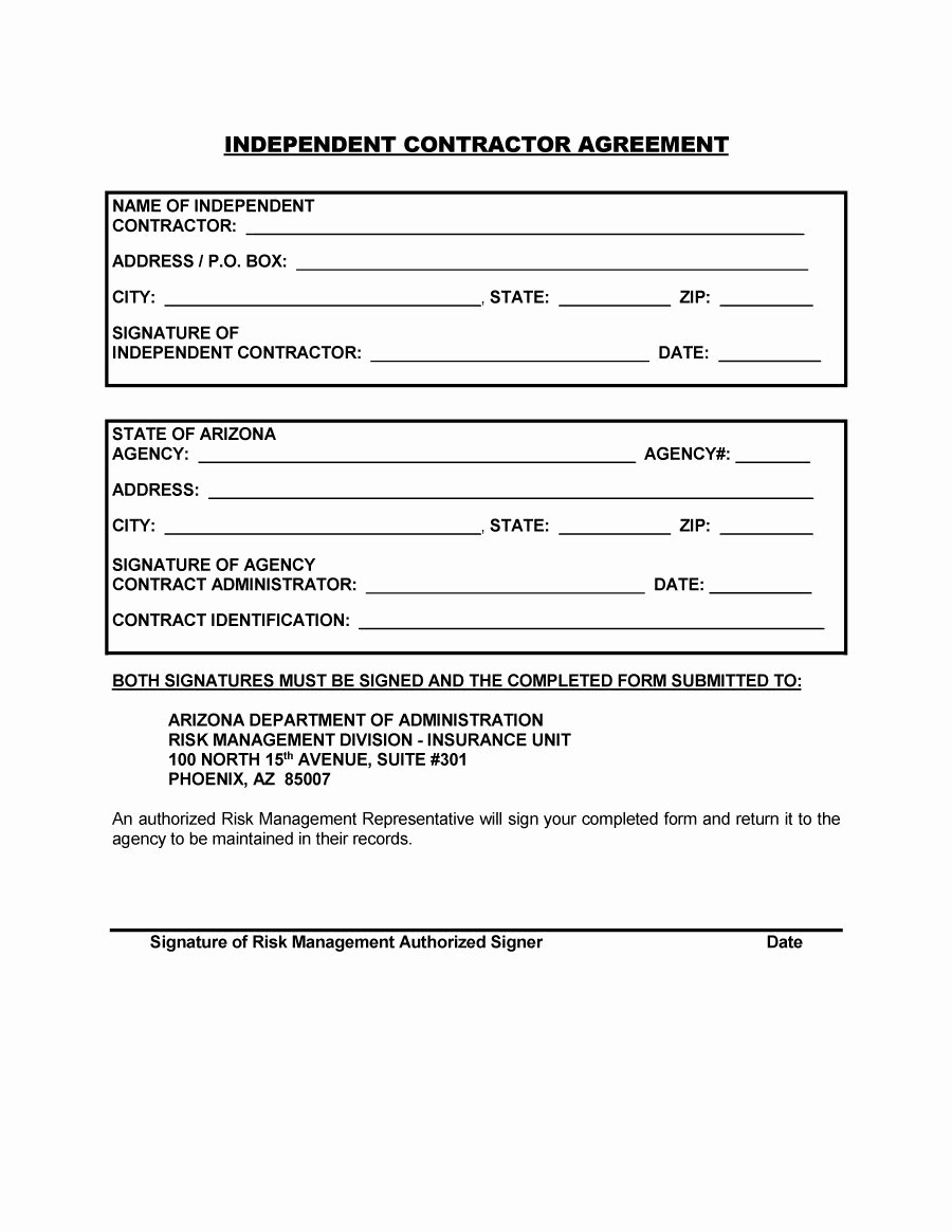 Independent Contractor Agreement Template Free Unique 50 Free Independent Contractor Agreement forms & Templates