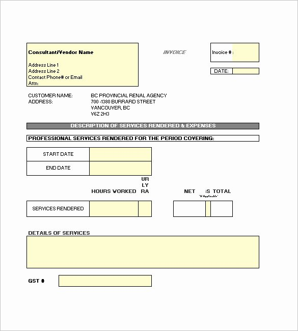 Independent Contractor Invoice Template Beautiful Contractor Invoice Templates 10 Free Excel Word Pdf