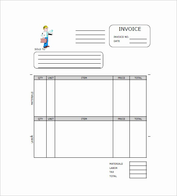 Independent Contractor Invoice Template Best Of 29 Contractor Invoice Templates for Microsoft Word & Excel