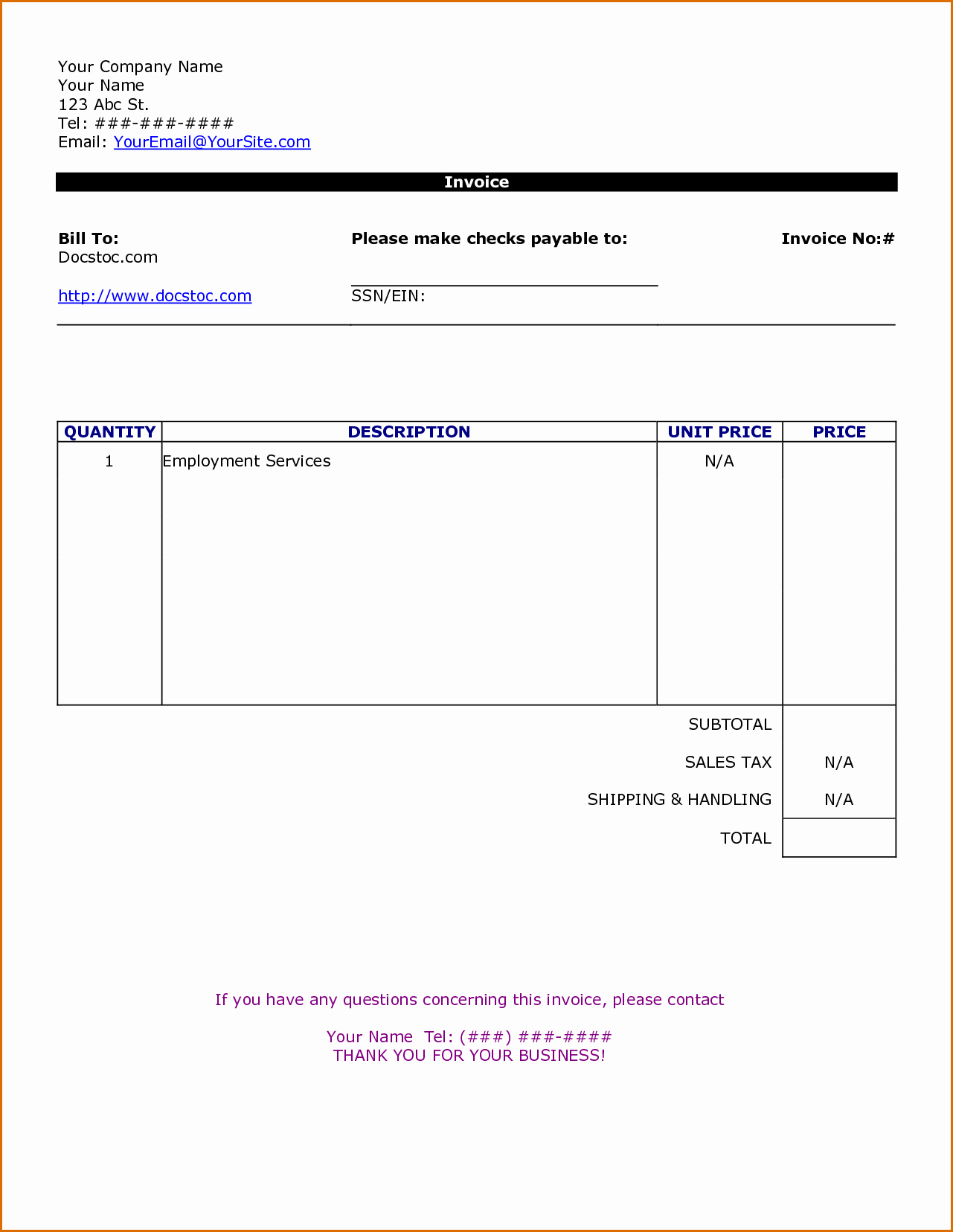Independent Contractor Invoice Template Luxury 10 Independent Contractor Invoice Template