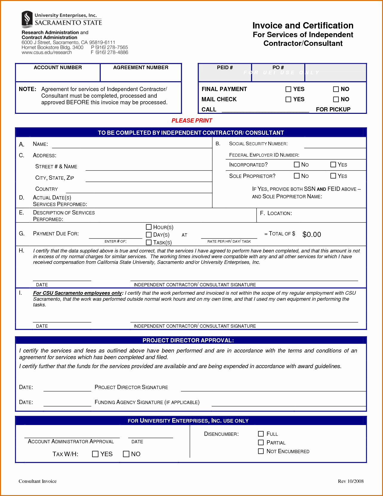 Independent Contractor Invoice Template Unique 10 Independent Contractor Invoice Template