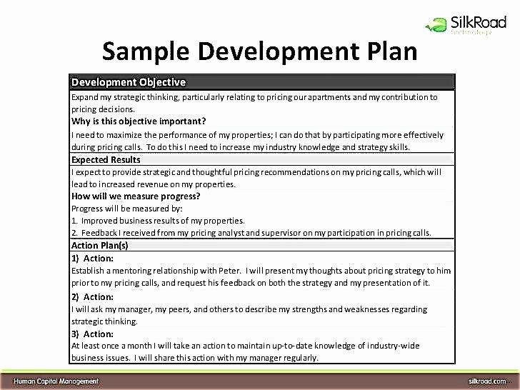 Individual Employee Training Plan Template Elegant Individual Development Plan for Employees