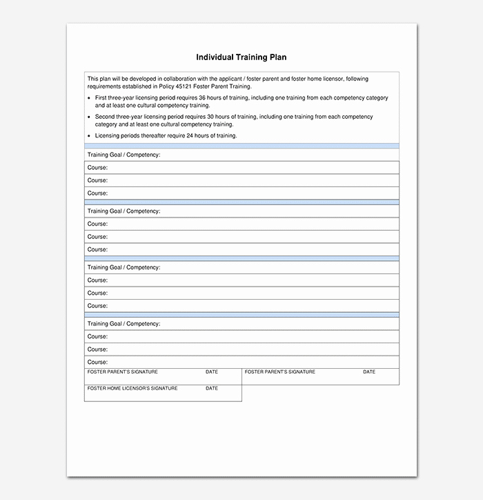 Individual Employee Training Plan Template Luxury Training Plan Template 26 Free Plans & Schedules