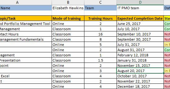 Individual Employee Training Plan Template New Employee Training Plan Excel Template Download Free