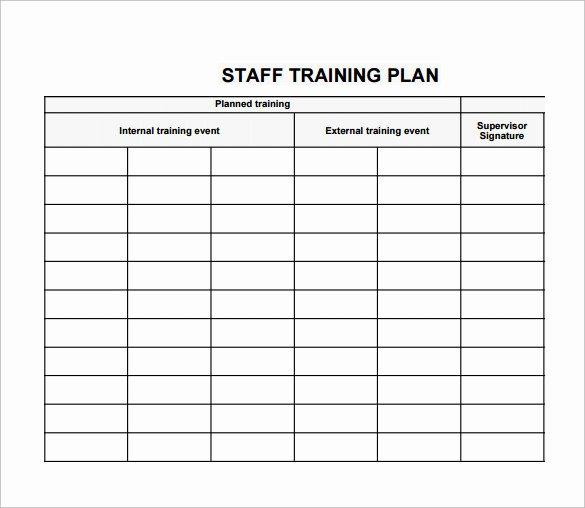 Individual Employee Training Plan Template Unique Individual Employee Training Plan Template