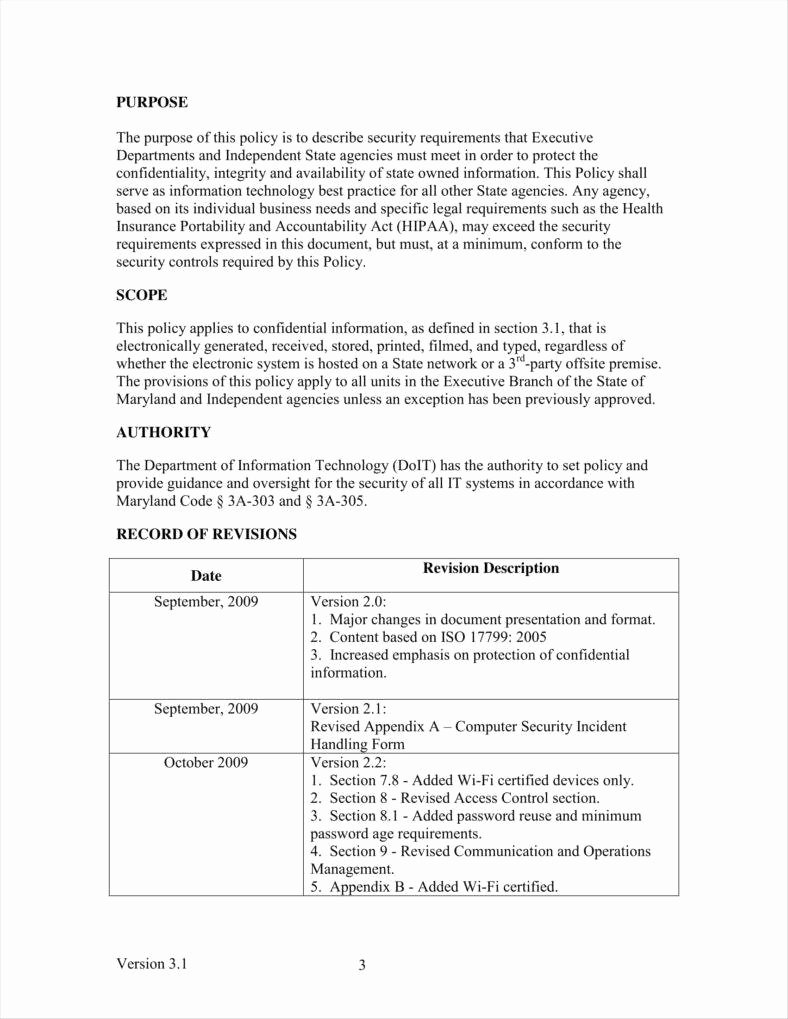 Information Security Policies Templates Beautiful 9 It Policy Templates Free Pdf Doc format Download